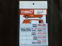 "STUDIO27【DC-1135】1/24 Citroen DS19""Monte-Carlo ""#104 1962/#176/#233 1963/#195 1966 Decal(E社対応)"