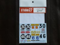 "STUDIO27【DC-1136】1/24 Citroen DS19""Safari ""#30/#46 1965 Decal(E社対応)"