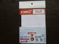 "STUDIO27【DC-1152】1/24 Golf Gti ""Belga""#29 European Rally Championship 1984 Decal(Revell社対応)"