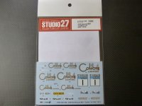 "STUDIO27【DC-1156】1/24 Escort Mk1 ""Calibri""#1 RAC 1974 Decal(For BELKITS対応)"