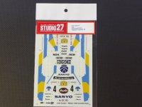 "STUDIO27【DC-271】1/24 アウディクアトロラリー""SANYO""'82 Decal"