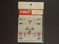 "STUDIO27【DC-519C】1/24 フォードフォーカスWRC""ERG""サンレモ'01"