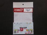 STUDIO27【DC-916】1/24 Citroen C4#1/2 Monte Carlo 2008 Decal(For htller)