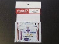 STUDIO27【DC-990】1/24 PORSCHE Cayman Rothmans#1 Decal(F社対応)