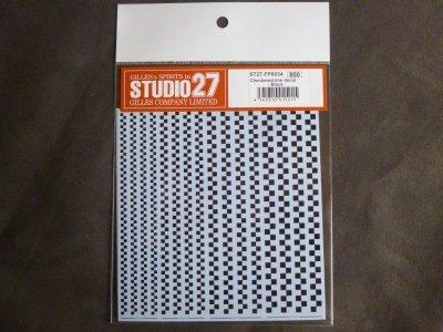 画像1: STUDIO27【FP-0034】チェッカーフラグライン Decal(black)