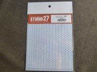 STUDIO27【FP-0035】チェッカーライン Decal(White)