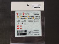STUDIO27【SDF-20192C】1/20 MP4/3 1987スペアデカール(スタジオ対応)