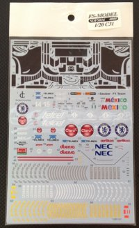 FSMODEL【SD-FS016】1/20 C31 - Spare Decal