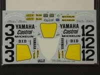 TABU DESIGN【TABU-12060】1/12 YZR500 OW98 WGP 1988 Full Sponsor Decal(H社対応)
